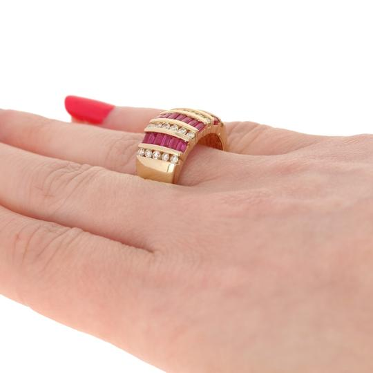 Wilson Brothers Jewelry 2.81ctw Rectangle Cut Ruby & Diamond Ring - 14k Yellow Gold E4489 Image 3