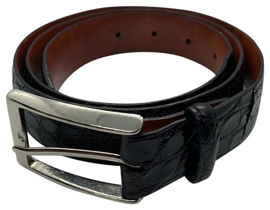 Preload https://img-static.tradesy.com/item/25765240/cole-haan-black-crocodile-steel-buckle-belt-0-1-540-540.jpg