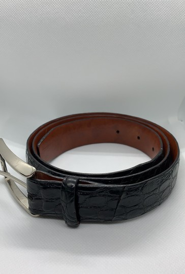 Cole Haan Cole Haan Crocodile Belt Steel Buckle Image 1