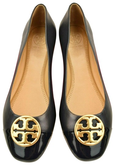 Preload https://img-static.tradesy.com/item/25765241/tory-burch-black-chelsea-navy-blue-leather-gold-reva-patent-toe-ballet-flats-size-us-105-regular-m-b-0-1-540-540.jpg