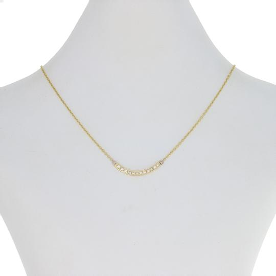 Wilson Brothers Jewelry .30ctw Round Brilliant Diamond Curved Bar Necklace 19