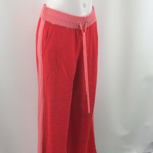 St. John Knit Relaxed Pants Red and Pink Image 1