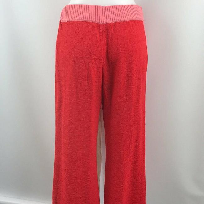 St. John Knit Relaxed Pants Red and Pink Image 2