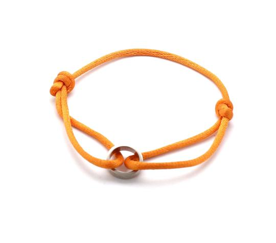 Preload https://img-static.tradesy.com/item/25765278/cartier-22059-love-18k-white-gold-mini-charm-ring-charity-orange-cord-bracelet-0-1-540-540.jpg