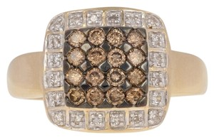 Wilson Brothers Jewelry .47ctw Round Brilliant Diamond Ring - 14k Gold Fancy Brown Halo E3870