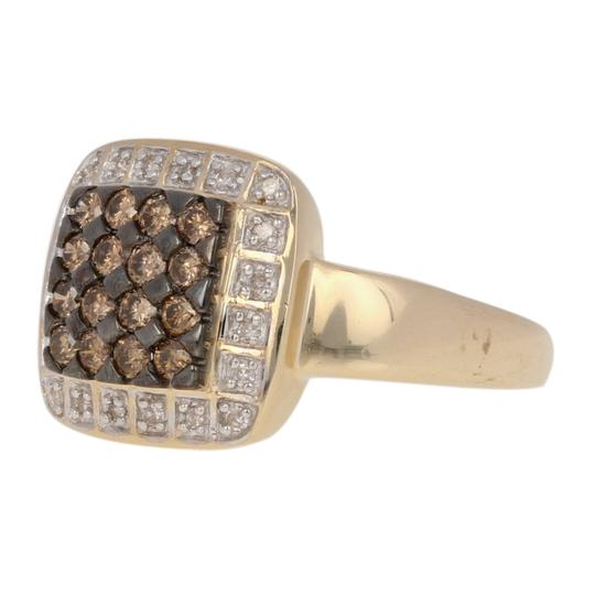 Wilson Brothers Jewelry .47ctw Round Brilliant Diamond Ring - 14k Gold Fancy Brown Halo E3870 Image 1