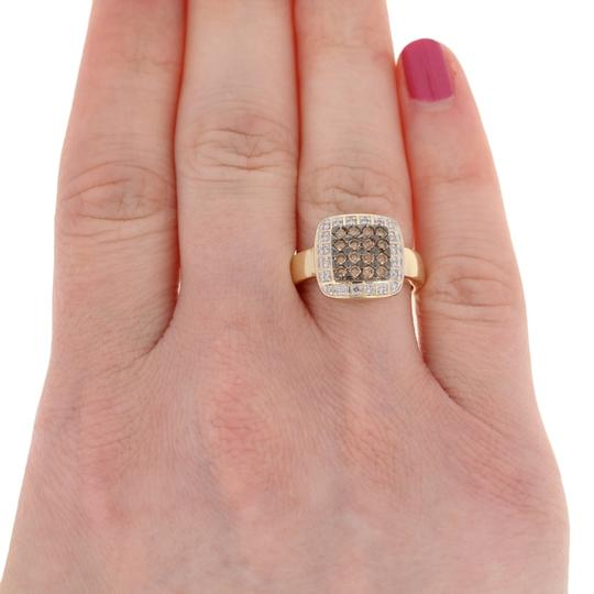 Wilson Brothers Jewelry .47ctw Round Brilliant Diamond Ring - 14k Gold Fancy Brown Halo E3870 Image 2