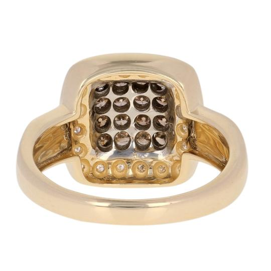 Wilson Brothers Jewelry .47ctw Round Brilliant Diamond Ring - 14k Gold Fancy Brown Halo E3870 Image 4