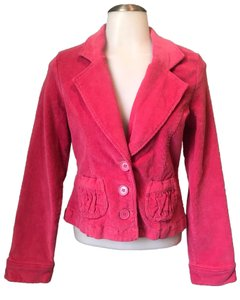Anthropologie Tulle Corderoy Coral Pink Blazer