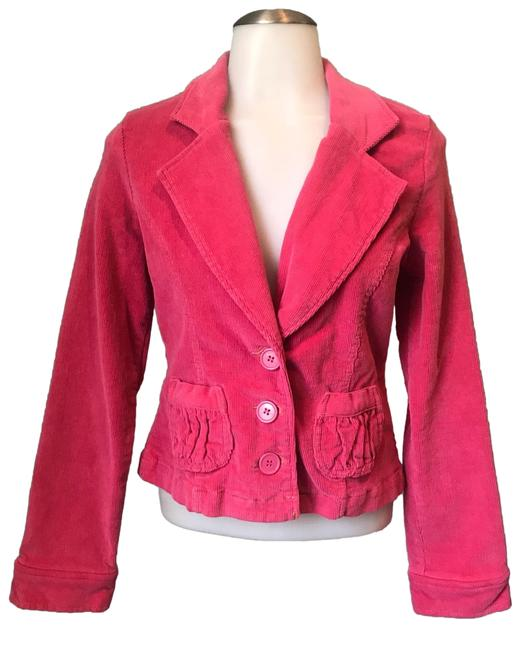 Preload https://img-static.tradesy.com/item/25765294/anthropologie-coral-pink-fitted-corduroy-jacket-blazer-size-4-s-0-1-650-650.jpg
