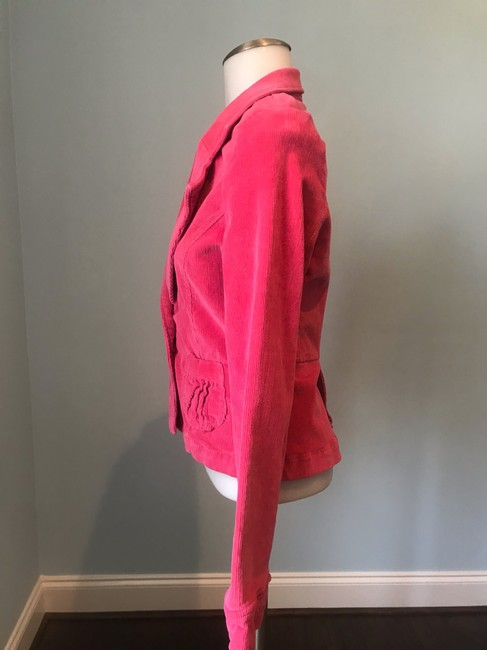 Anthropologie Tulle Corderoy Coral Pink Blazer Image 2