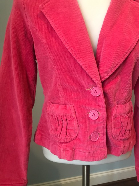 Anthropologie Tulle Corderoy Coral Pink Blazer Image 3