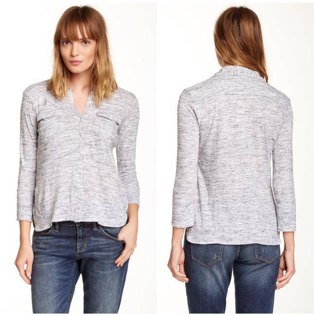 Preload https://img-static.tradesy.com/item/25765301/james-perse-gray-salt-and-pepper-button-up-shirt-button-down-top-size-8-m-0-2-650-650.jpg