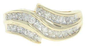 Wilson Brothers Jewelry .50ctw Round Brilliant Diamond Ring - 14k Yellow Gold Bypass U4288