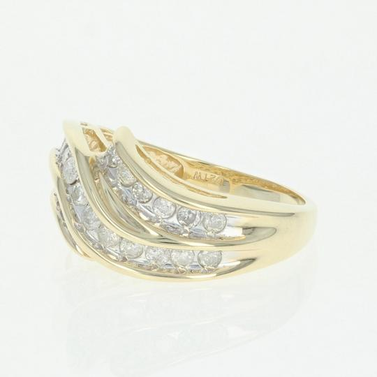 Wilson Brothers Jewelry .50ctw Round Brilliant Diamond Ring - 14k Yellow Gold Bypass U4288 Image 1