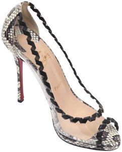Christian Louboutin Red Sole Red Bottom Platform Leather Black Pumps