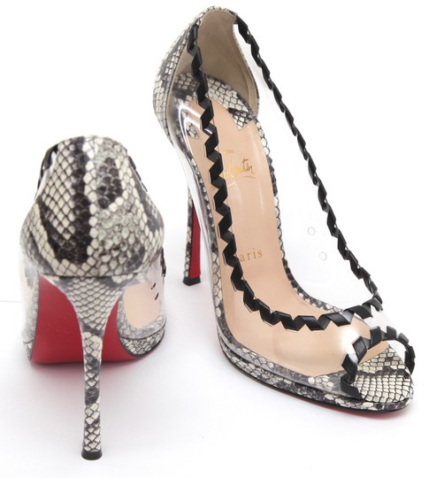 Christian Louboutin Red Sole Red Bottom Platform Leather Black Pumps Image 5