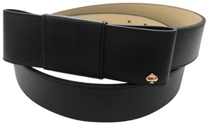 Kate Spade Black Leather Bow Belt