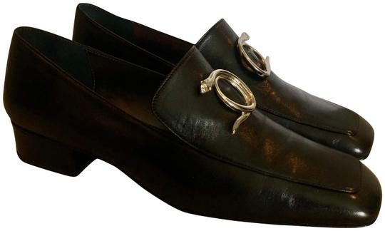 Dorateymur Loafer Leather Square Toe Black Flats Image 0