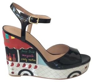 Kate Spade black, silver, yellow and red Sandals