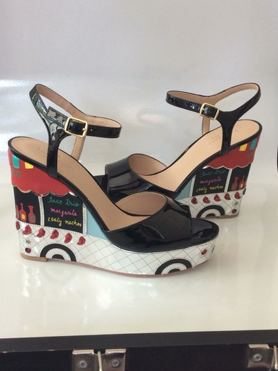 Kate Spade black, silver, yellow and red Sandals Image 1