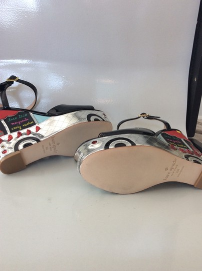 Kate Spade black, silver, yellow and red Sandals Image 2