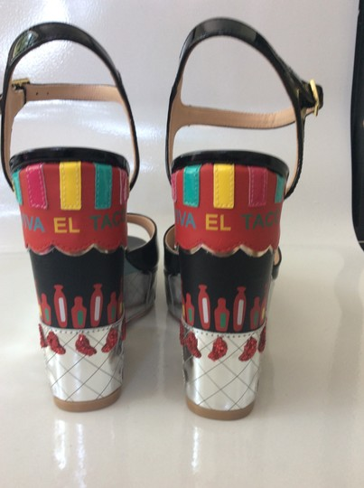 Kate Spade black, silver, yellow and red Sandals Image 3