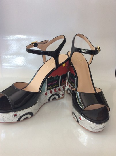 Kate Spade black, silver, yellow and red Sandals Image 5
