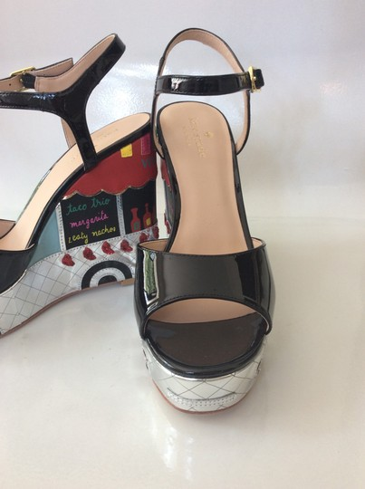 Kate Spade black, silver, yellow and red Sandals Image 6