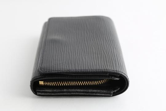 Louis Vuitton Louis Vuitton Black Epi Leather Tresor Wallet Image 2