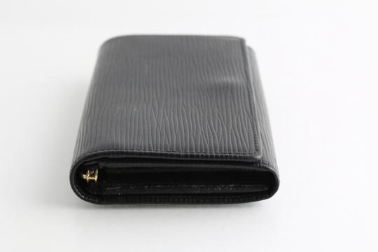 Louis Vuitton Louis Vuitton Black Epi Leather Tresor Wallet Image 3