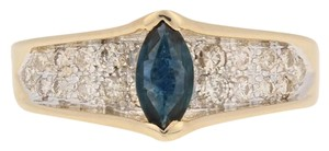 Wilson Brothers Jewelry .77ctw Marquise Cut Sapphire & Diamond Ring - 14k Yellow Gold E4488