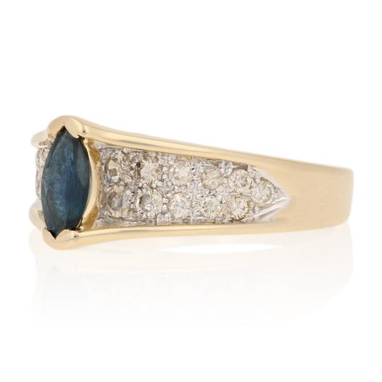 Wilson Brothers Jewelry .77ctw Marquise Cut Sapphire & Diamond Ring - 14k Yellow Gold E4488 Image 1