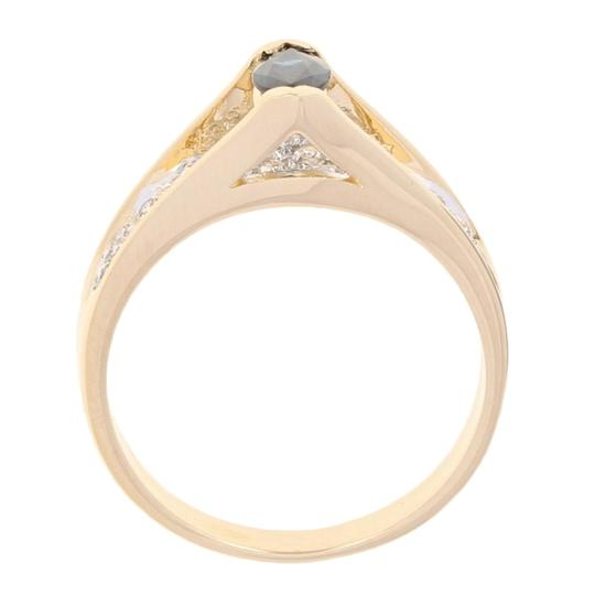Wilson Brothers Jewelry .77ctw Marquise Cut Sapphire & Diamond Ring - 14k Yellow Gold E4488 Image 4