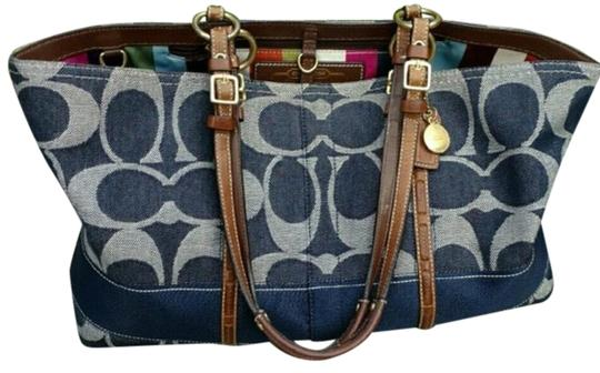 Coach Tote in Blue Image 0