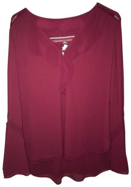 White House | Black Market Top Maroon Image 0