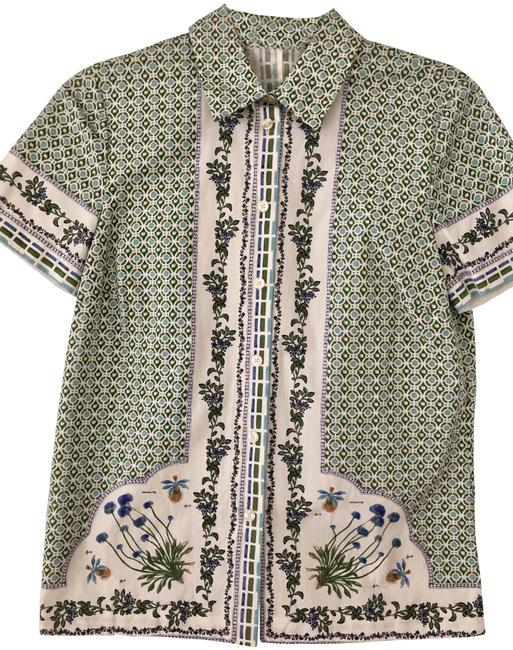 Preload https://img-static.tradesy.com/item/25765429/tory-burch-floral-button-down-top-size-4-s-0-1-650-650.jpg