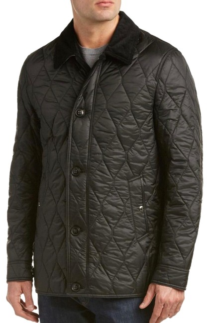 Item - Black Men's Gransworth Leather Elbow Patch Quilted Large Jacket Size 12 (L)