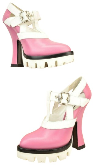 Preload https://img-static.tradesy.com/item/25765450/miu-miu-pink-white-leather-belted-lug-sole-mary-jane-sandals-pumps-size-eu-40-approx-us-10-regular-m-0-1-540-540.jpg