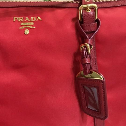 Prada Nylon Shopping Crossbody Strap Tote in red Image 2