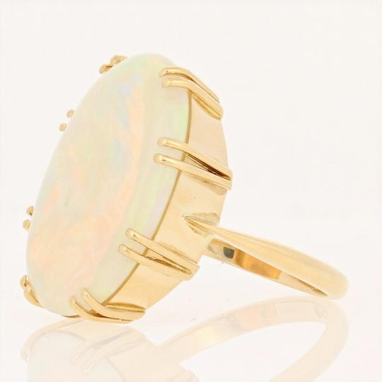 Wilson Brothers Jewelry 8.60ct Oval Cabochon Cut Opal Ring - 18k Gold Cocktail E4783 Image 2