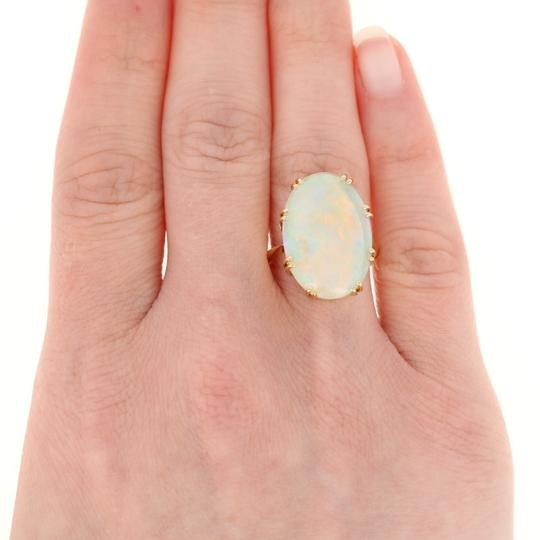 Wilson Brothers Jewelry 8.60ct Oval Cabochon Cut Opal Ring - 18k Gold Cocktail E4783 Image 3