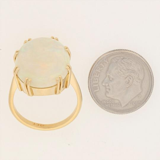 Wilson Brothers Jewelry 8.60ct Oval Cabochon Cut Opal Ring - 18k Gold Cocktail E4783 Image 5