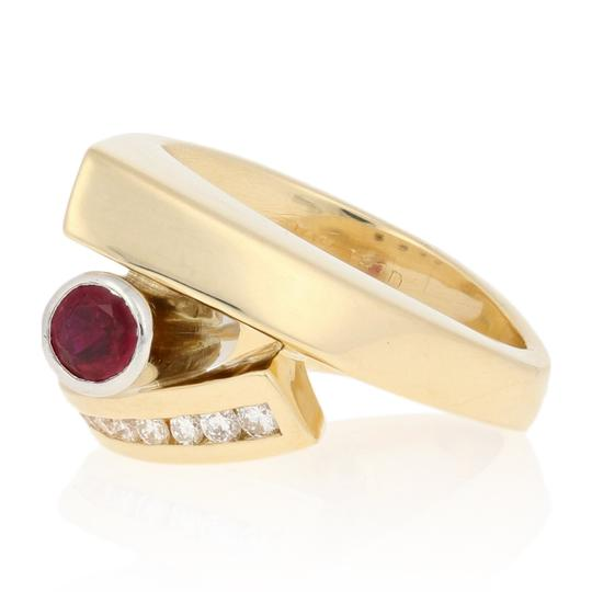Wilson Brothers Jewelry .86ctw Round Cut Ruby & Diamond Ring 18k Gold & 900 Platinum E4661 Image 1