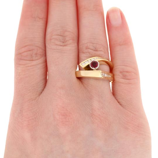 Wilson Brothers Jewelry .86ctw Round Cut Ruby & Diamond Ring 18k Gold & 900 Platinum E4661 Image 2