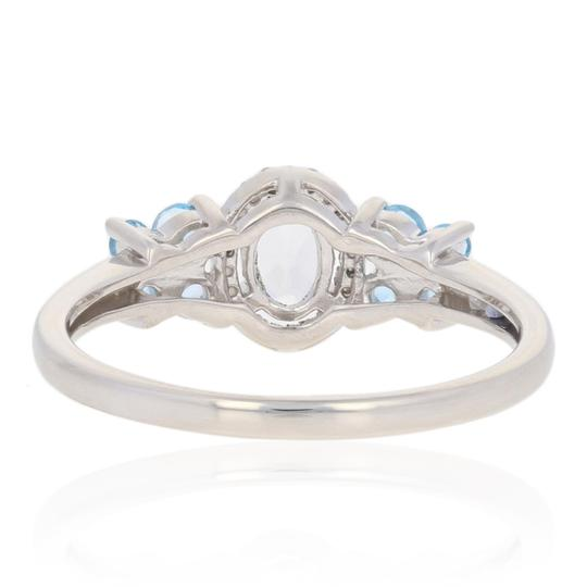 Wilson Brothers Jewelry .91ctw Oval Cut Topaz & Diamond Ring Sterling Silver Blue White E2989 Image 4