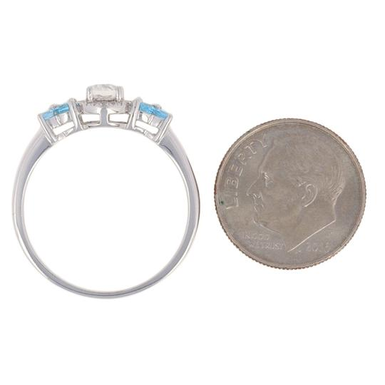 Wilson Brothers Jewelry .91ctw Oval Cut Topaz & Diamond Ring Sterling Silver Blue White E2989 Image 5