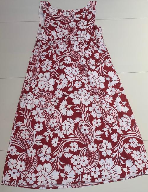 Ann Taylor short dress Red and White Floral Sleeveless Empire Waist Cotton Lined on Tradesy Image 1