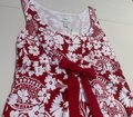 Ann Taylor short dress Red and White Floral Sleeveless Empire Waist Cotton Lined on Tradesy Image 3