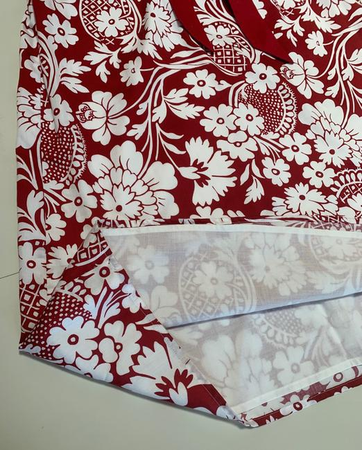 Ann Taylor short dress Red and White Floral Sleeveless Empire Waist Cotton Lined on Tradesy Image 4